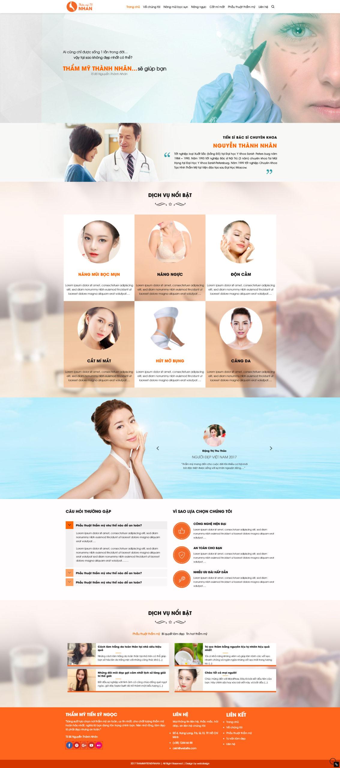 Mẫu thiết kế website Thẩm Mỹ Viện – Spa – Clinic