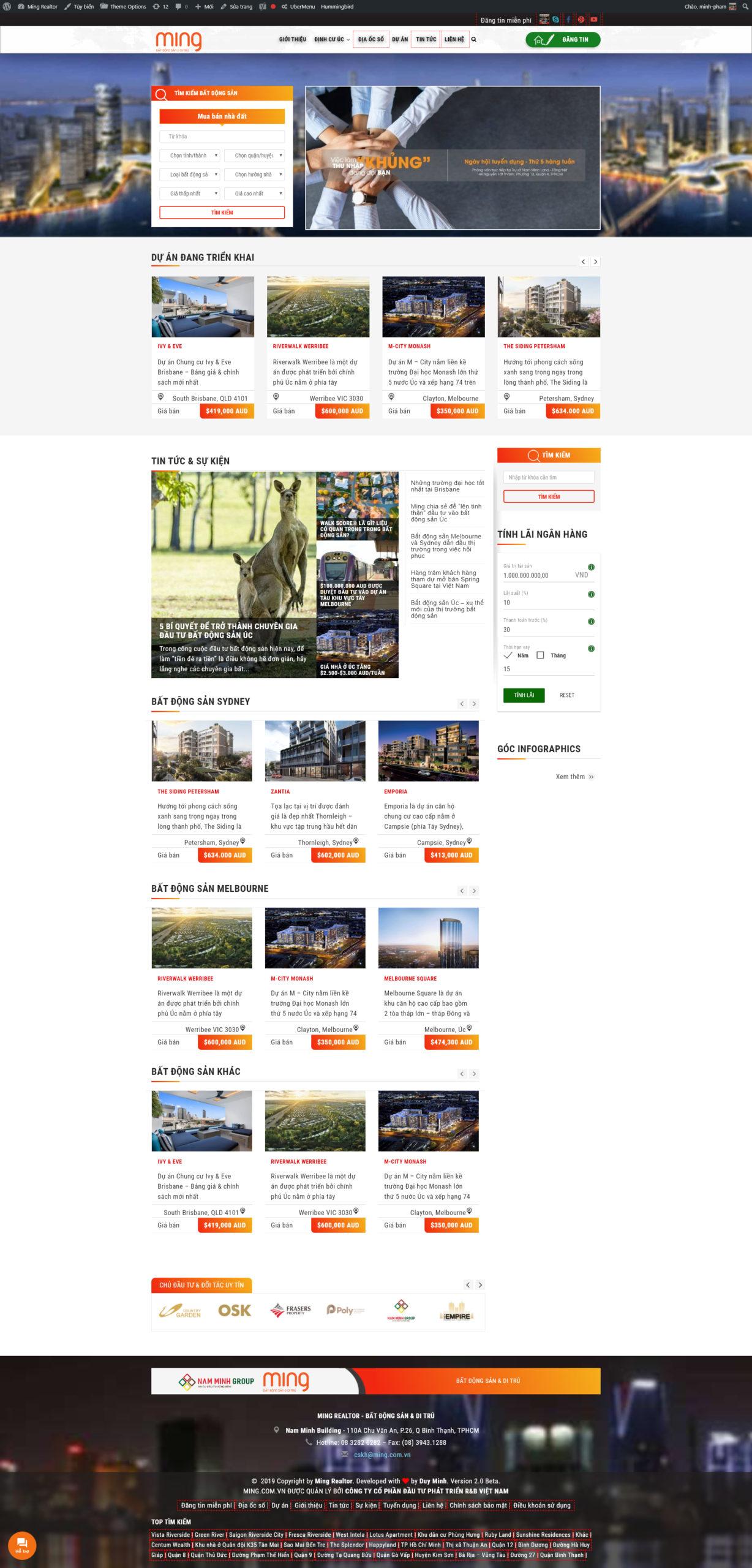 Mẫu website sàn giao dịch bất động sản