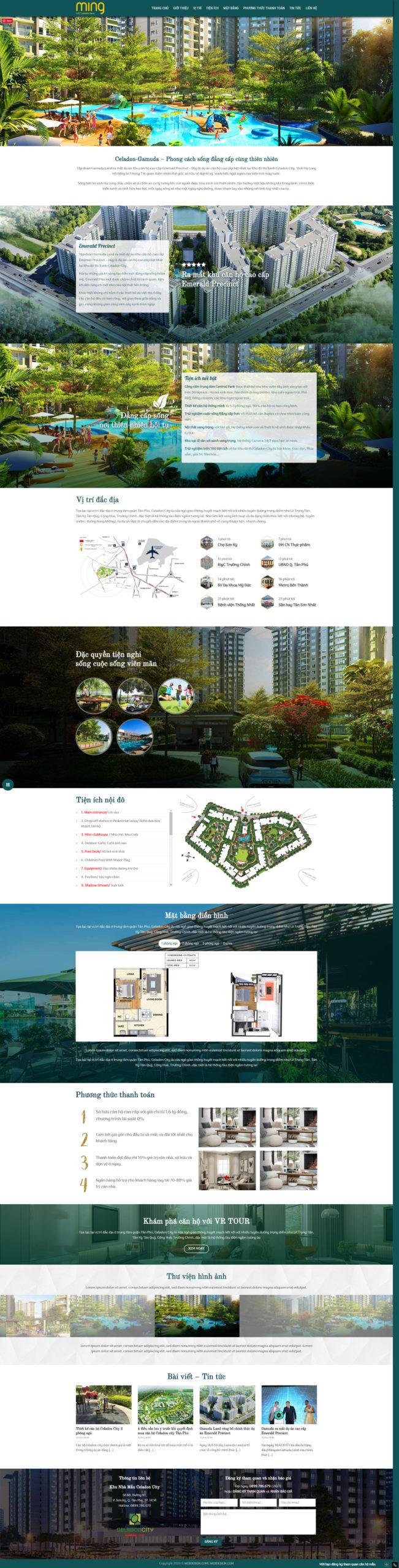 Mẫu Thiết kế Landing page dự án căn hộ – đất nền