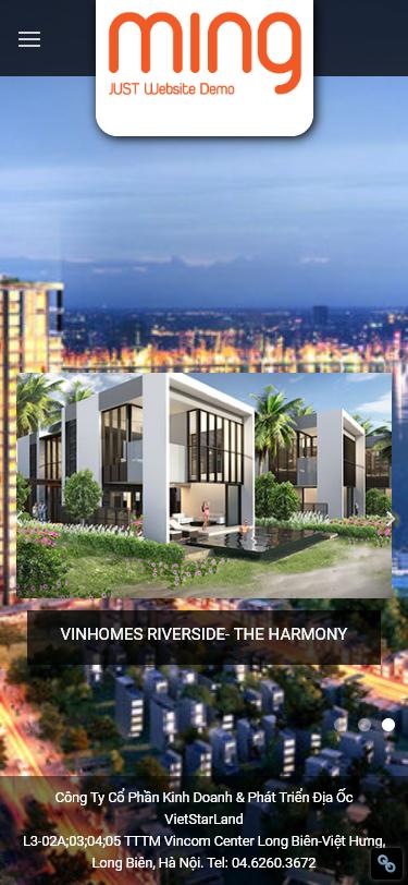 Mẫu Website Giống Vinhomes.vn