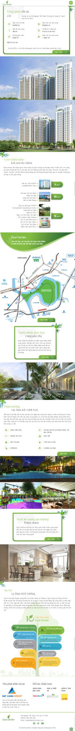 Mẫu website dự án Opal Garden