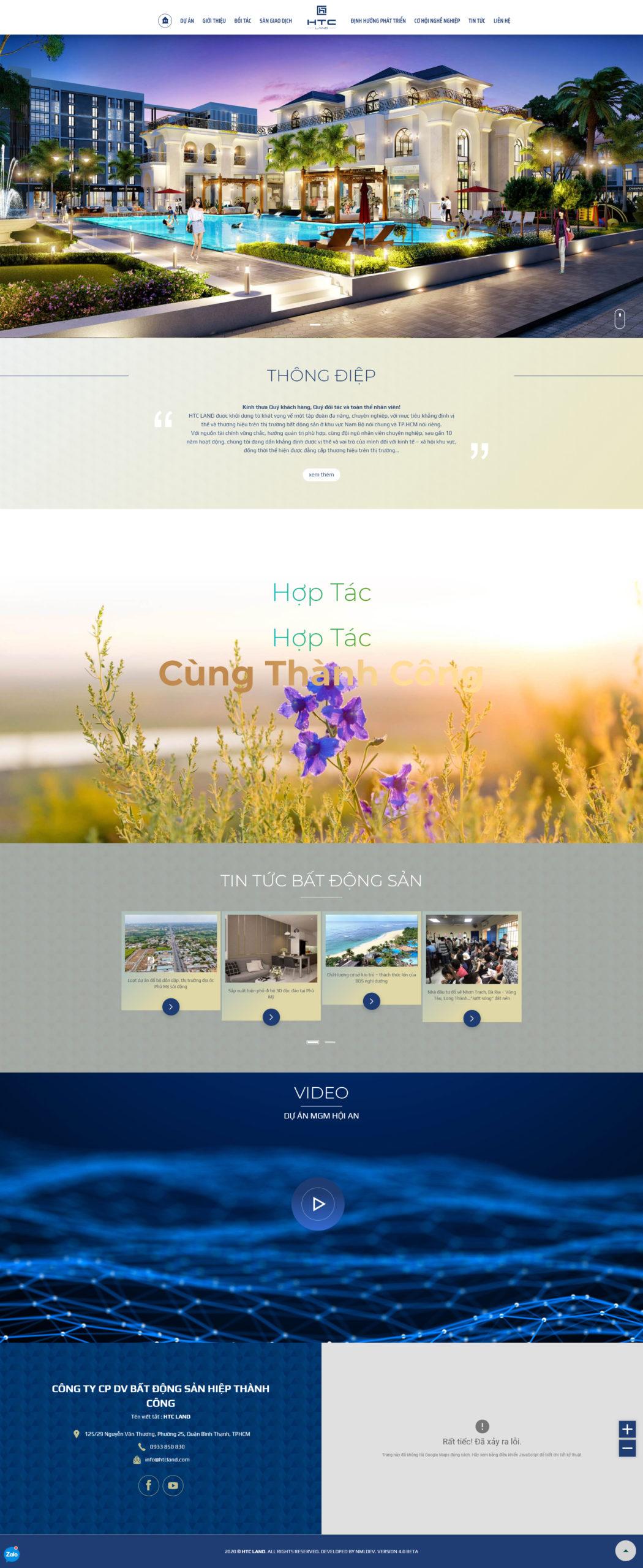 Thiết kế website công ty bất động sản giống Trần Anh Group