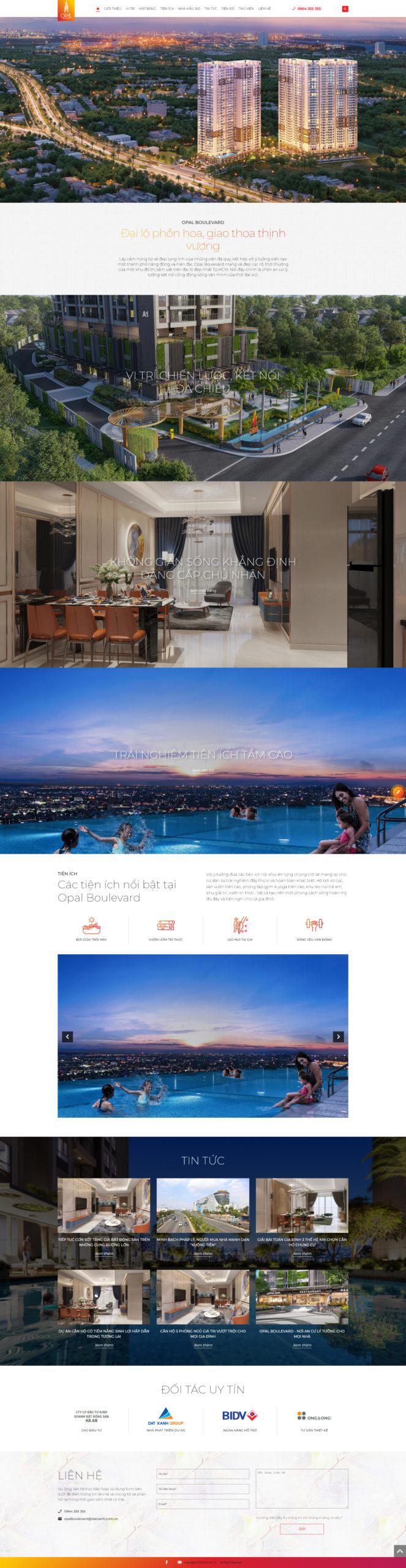 Mẫu thiết kế website Ming Boulevard